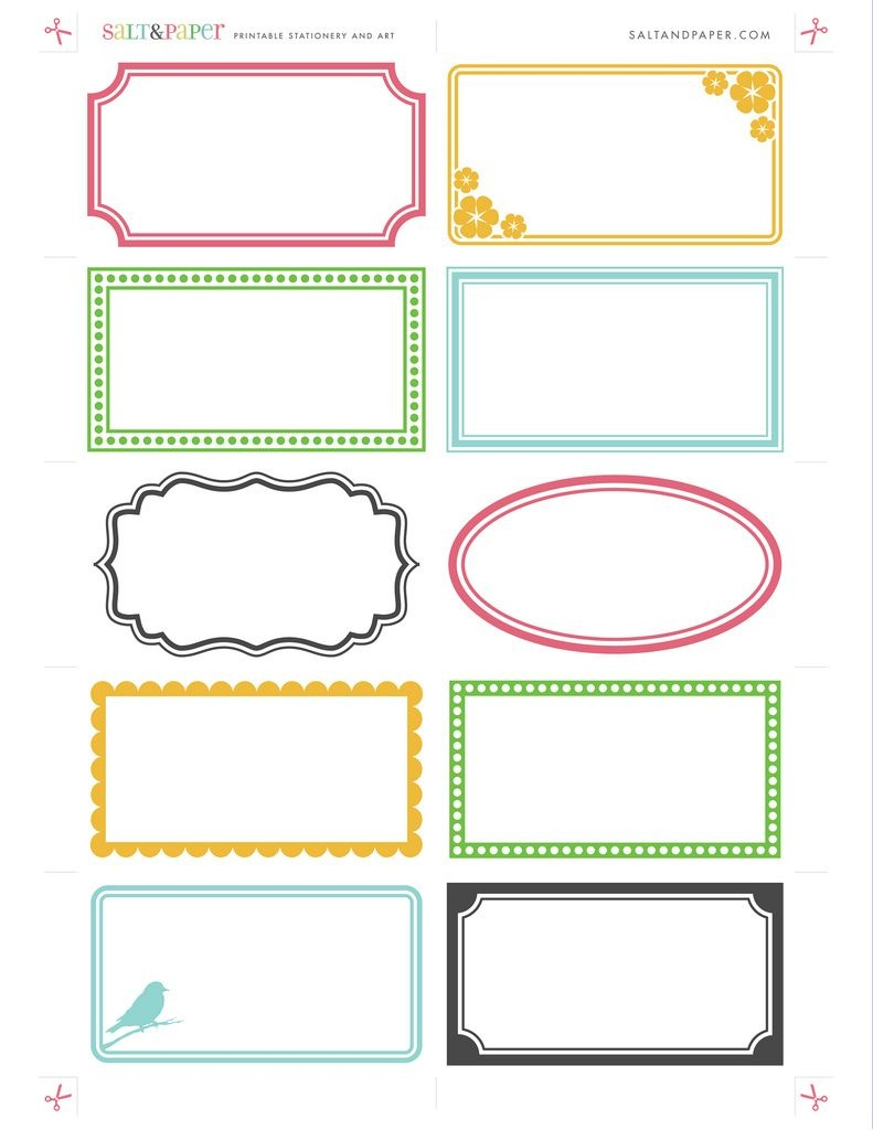 Labels - Free Printable For Diy Crafting. Paper Craft, Organizing - Free Printable Label Templates