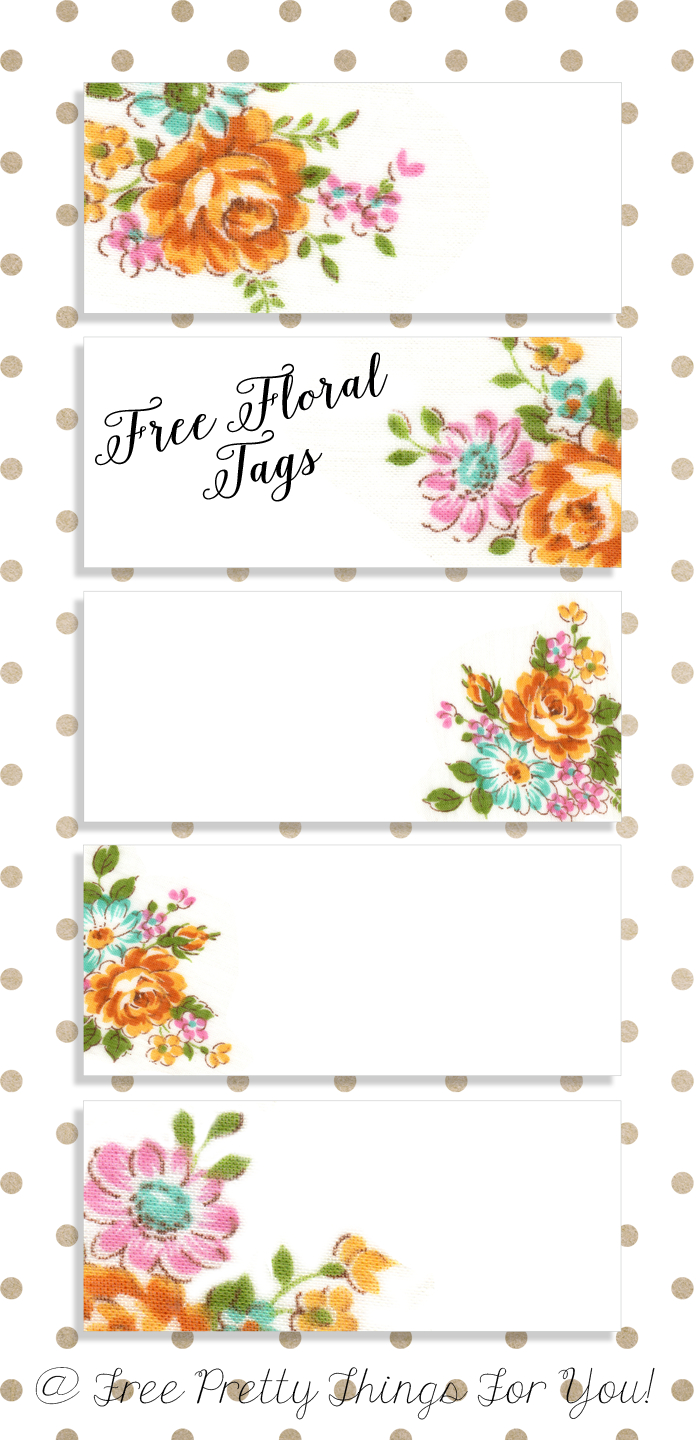 Labels: Pretty Floral Vintagetags | Best Free Digital Goods | Free - Free Printable Name Tags