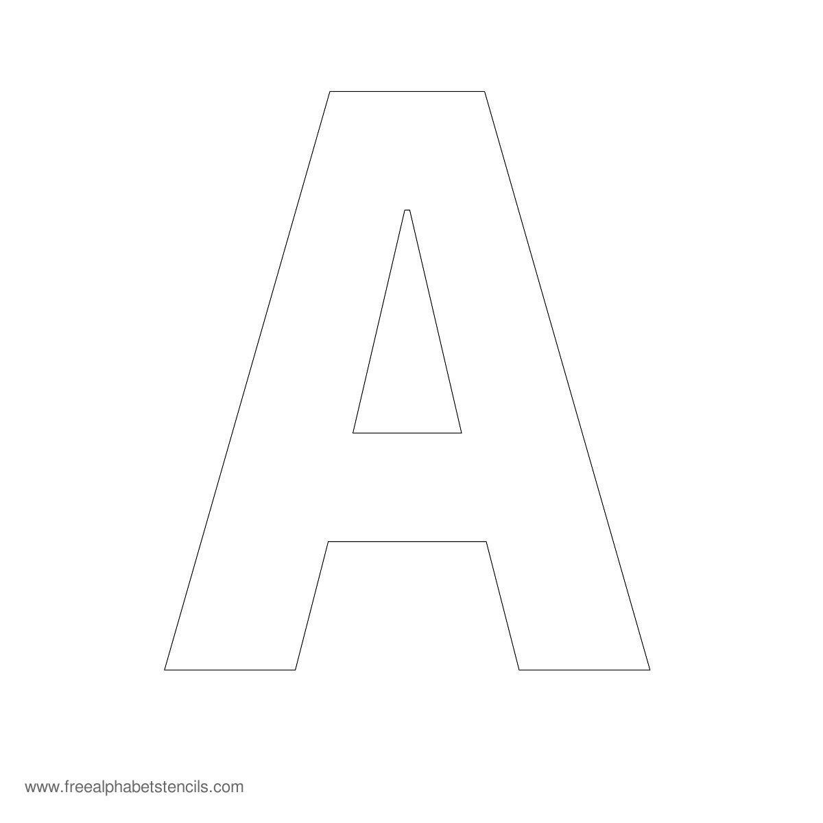 Large Alphabet Stencils   Freealphabetstencils - Free Printable Alphabet Stencils Templates