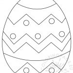 Large Easter Egg Patterns – Coloring Page   Easter Egg Template Free Printable