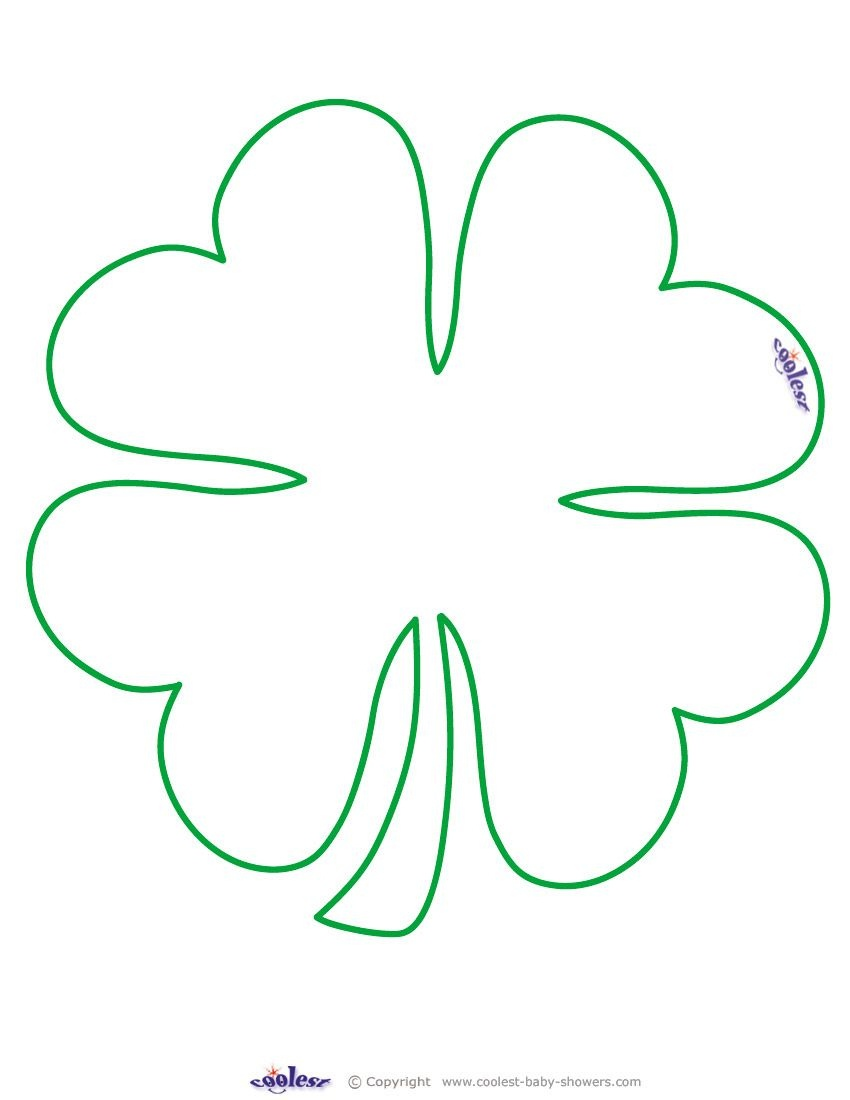 Large Printable Clover Coolest Free Printables … | Tattoo Canvas - Shamrock Template Free Printable