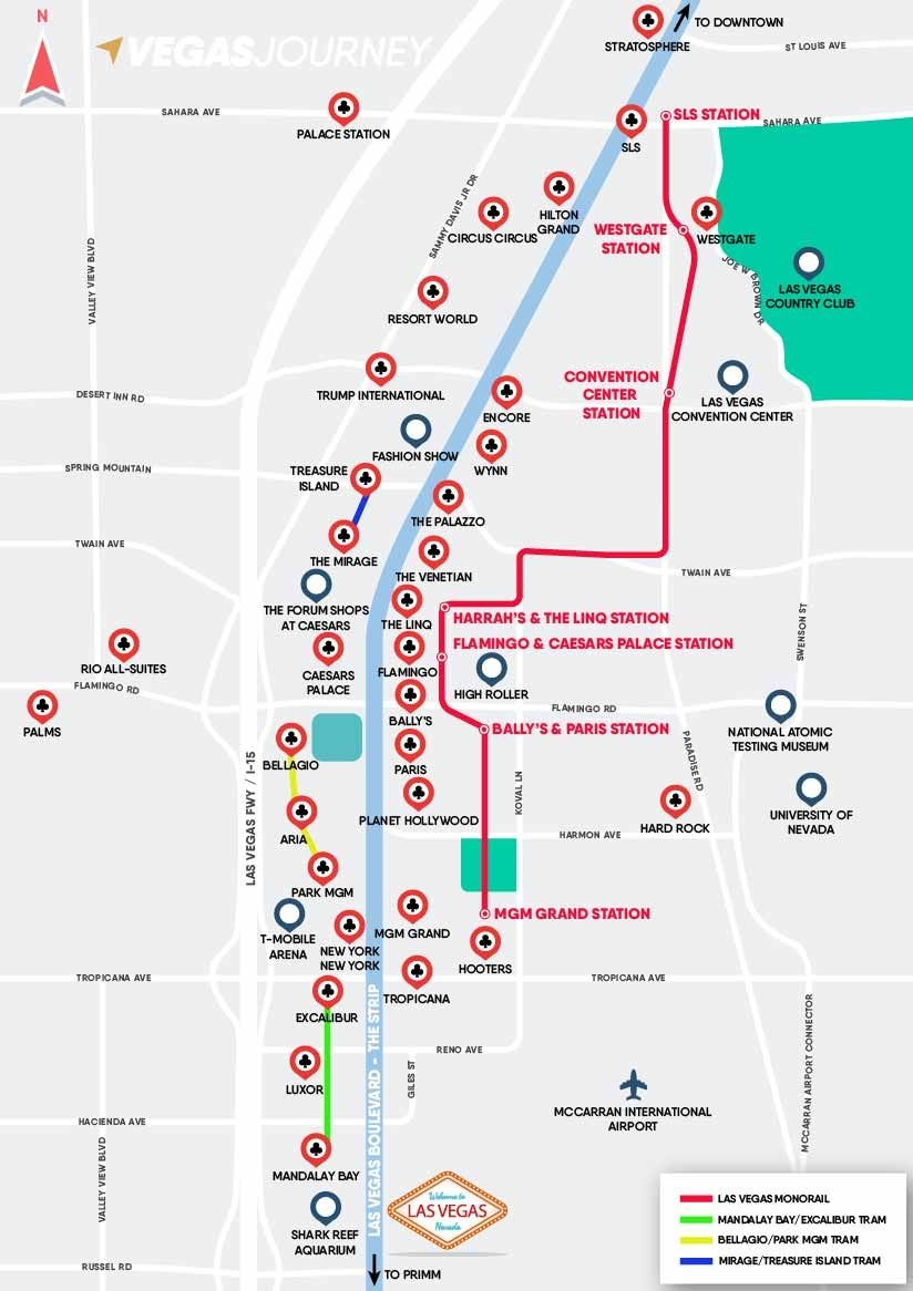 Las Vegas Monorail & Tram Map | Vegas Vacation In 2019 | Las Vegas - Free Printable Las Vegas Coupons 2014