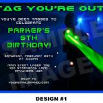 Laser Tag Party Invitations Template Free | Nicks Birthday In 2019   Free Printable Laser Tag Invitation Template