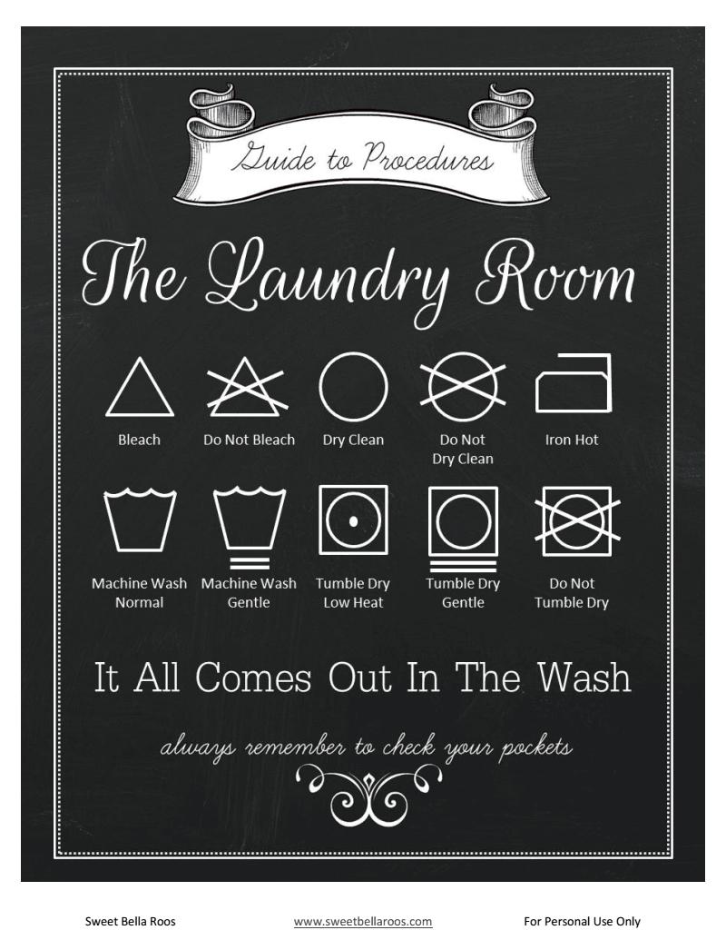 Laundry Instructions Free Printable Laundry Room Poster | Home - Free Printable Laundry Room Signs