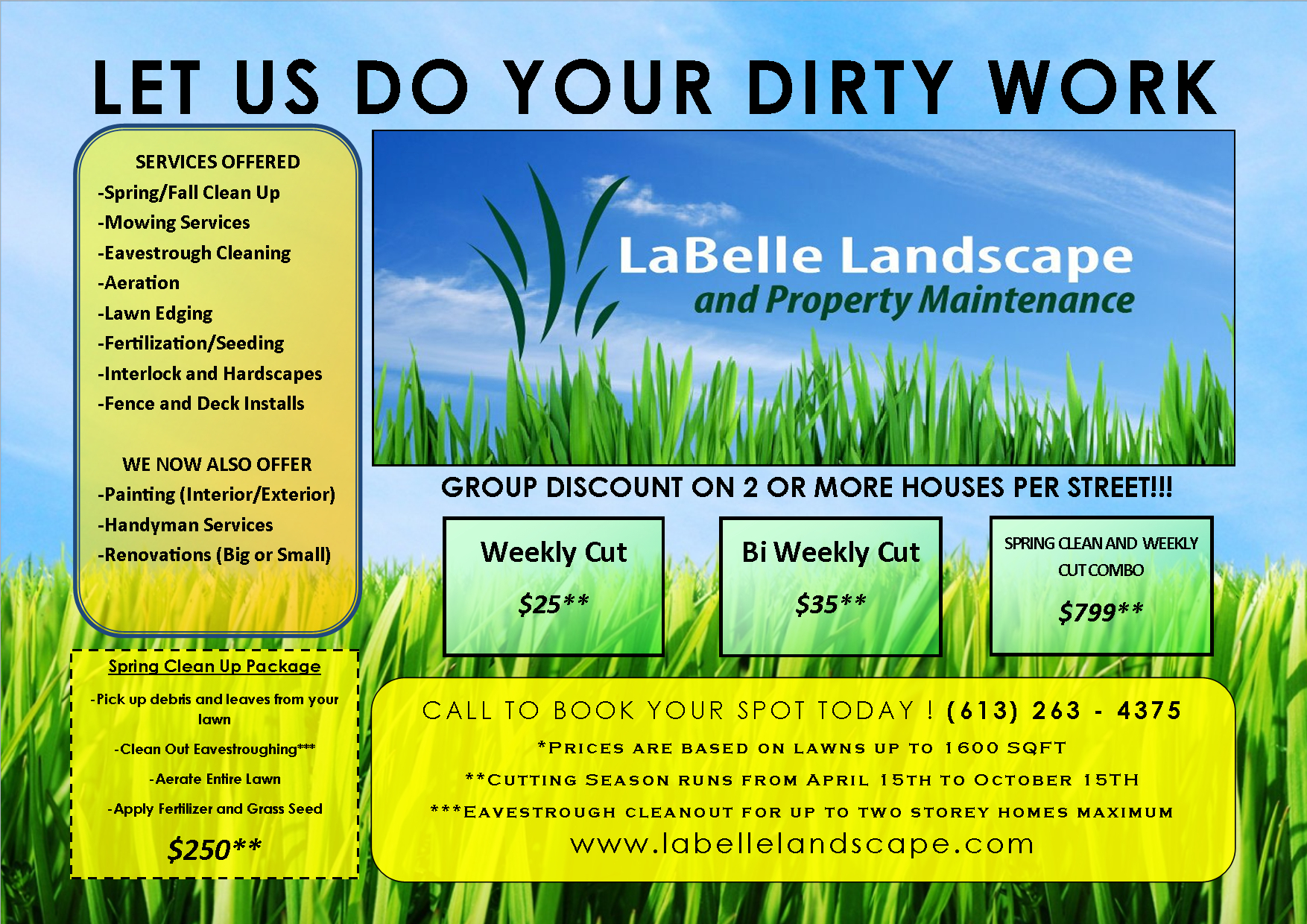 Lawn Care Flyer Free Template | Flyer Templates | Lawn Care - Free Printable Landscaping Flyers