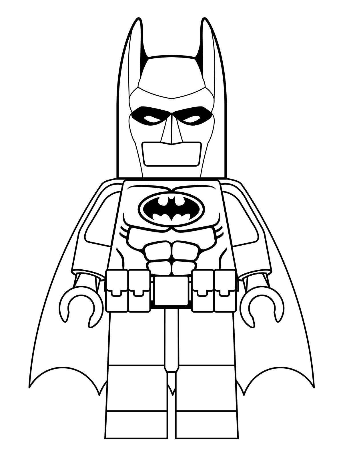 Lego Batman To Print - Lego Batman Kids Coloring Pages - Free Printable Batman Coloring Pages