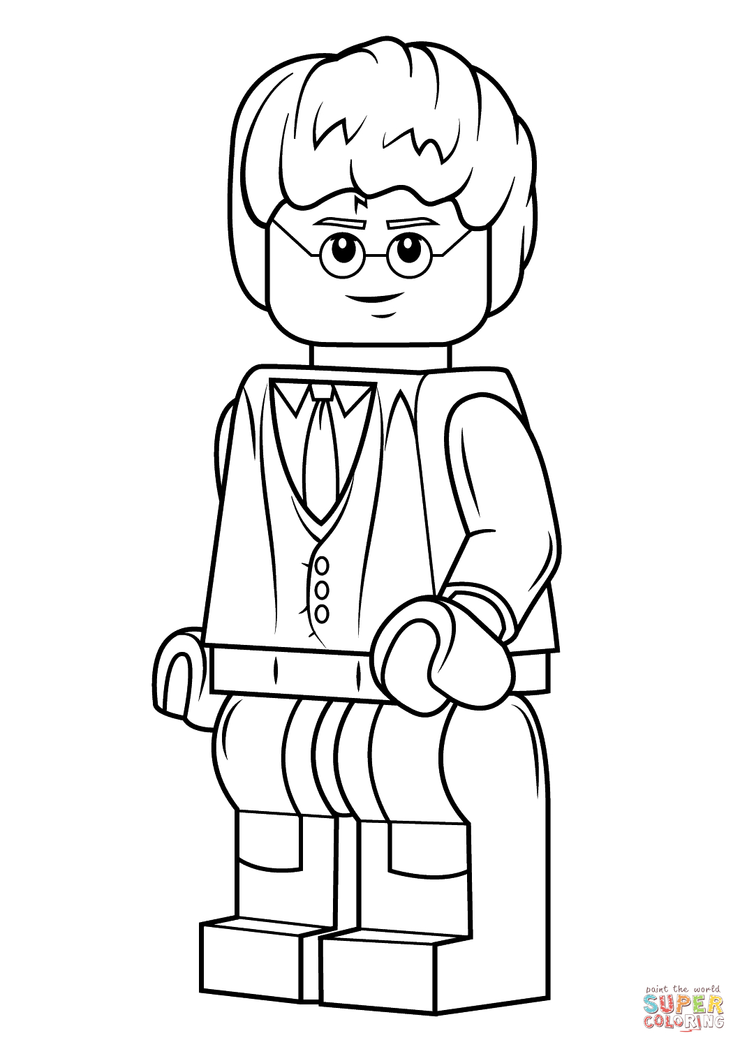 Lego Harry Potter Coloring Page | Free Printable Coloring Pages - Free Printable Harry Potter Colouring Sheets