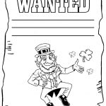 Leprechaun Coloring Pages Frugal Mom And Wife Free Printable St   Free Printable Saint Patrick Coloring Pages