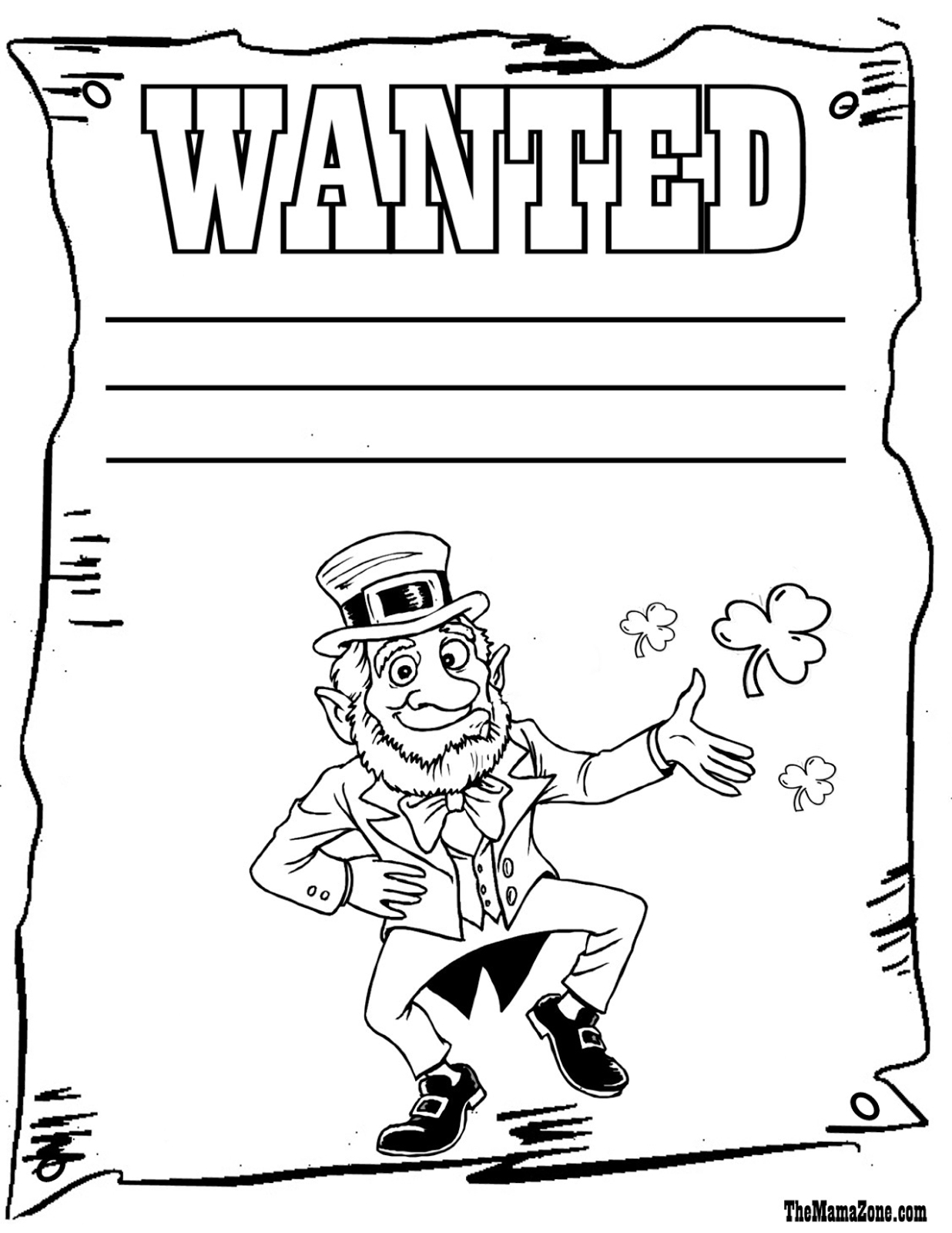 Leprechaun Coloring Pages Frugal Mom And Wife Free Printable St - Free Printable Saint Patrick Coloring Pages