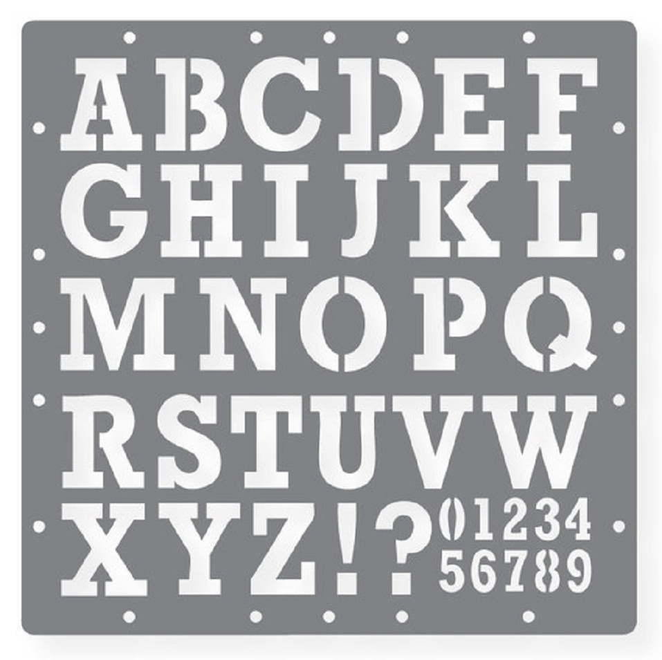 Letter And Number Templates - Kaza.psstech.co - Free Printable Alphabet Stencils Templates