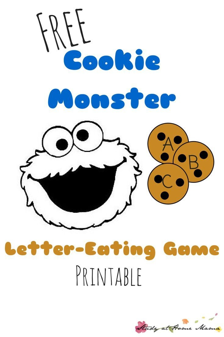 Letter-Eating Cookie Monster Printable Game | All Things Preschool - Free Printable Cookie Monster Face