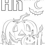 Letter H Is For Halloween Coloring Page | Free Printable Coloring Pages   Free Online Printable Halloween Coloring Pages