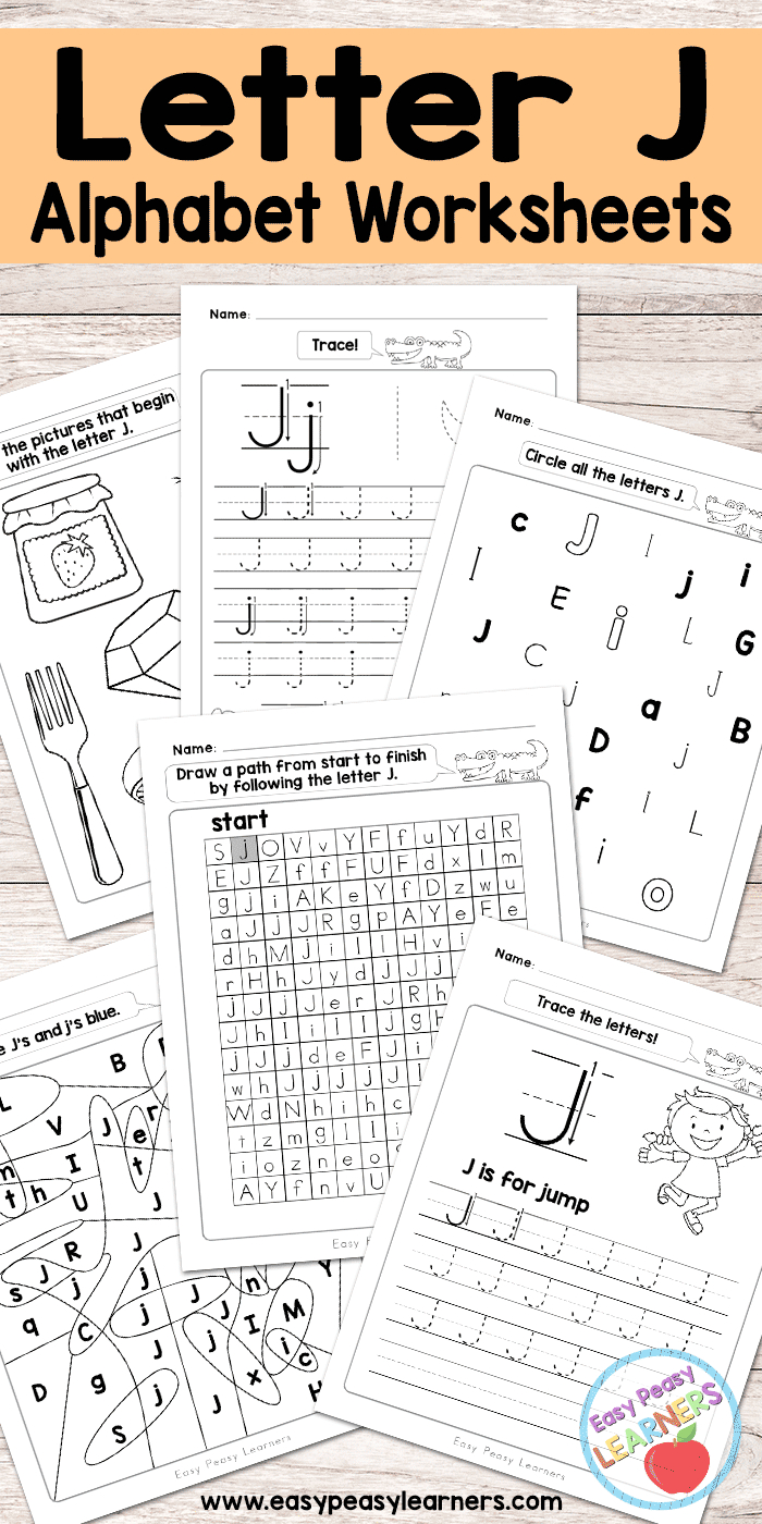 Letter J Worksheets - Alphabet Series - Easy Peasy Learners - Free Printable Letter J