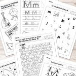 Letter M Worksheets   Alphabet Series   Easy Peasy Learners   Free Printable Alphabet Worksheets