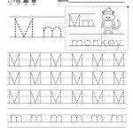 Letter M Writing Practice Worksheet   Free Kindergarten English   Free Printable Letter Writing Worksheets