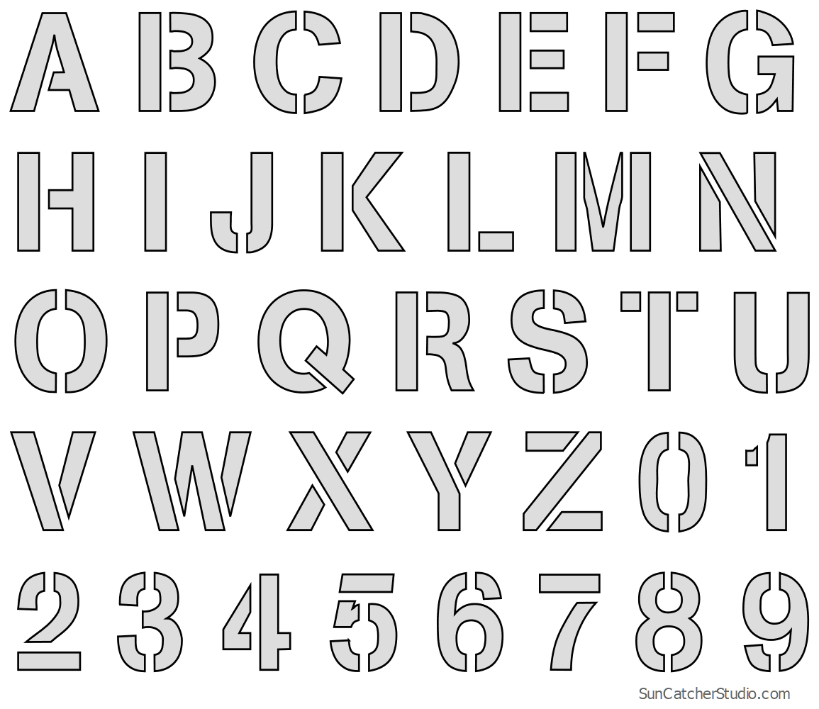 Letter Stencils - Printable Number And Alphabet Patterns (Png, Svg) - Free Printable Alphabet Stencil Patterns