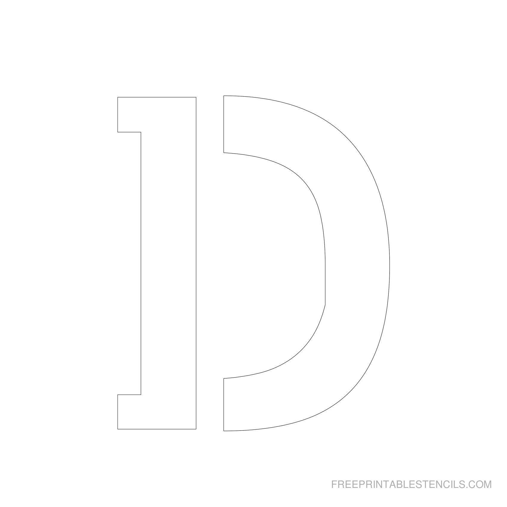 Letter Stencils To Print   Free Printable Stencils - Free Printable Alphabet Stencils Templates