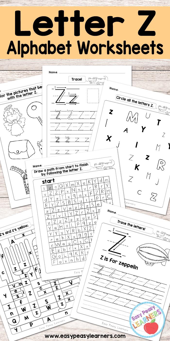 Letter Z Worksheets - Alphabet Series - Easy Peasy Learners - Letter Z Worksheets Free Printable