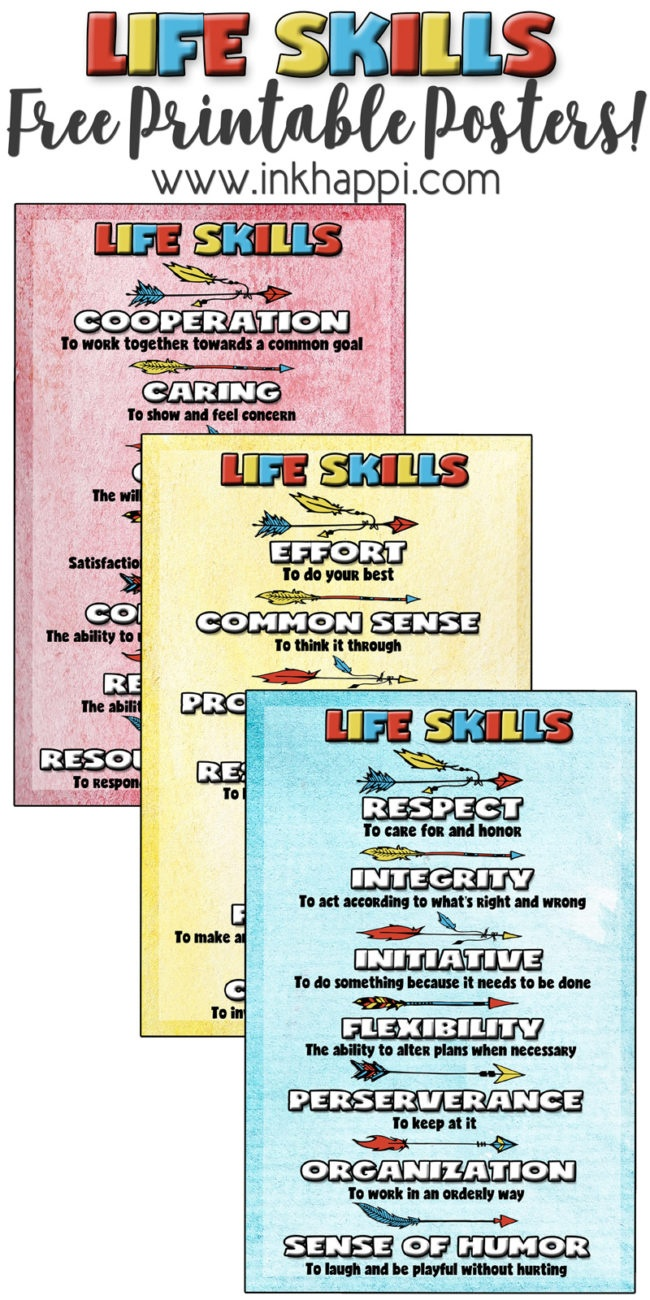 Life Skills Posters ->> Character Building Free Printables! - Inkhappi - Free Printable Posters For Teachers