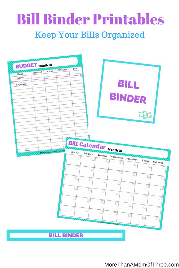 Like A Boss Series: Organize Your Bills With A Bill Binder - Free - Bill Binder Free Printables