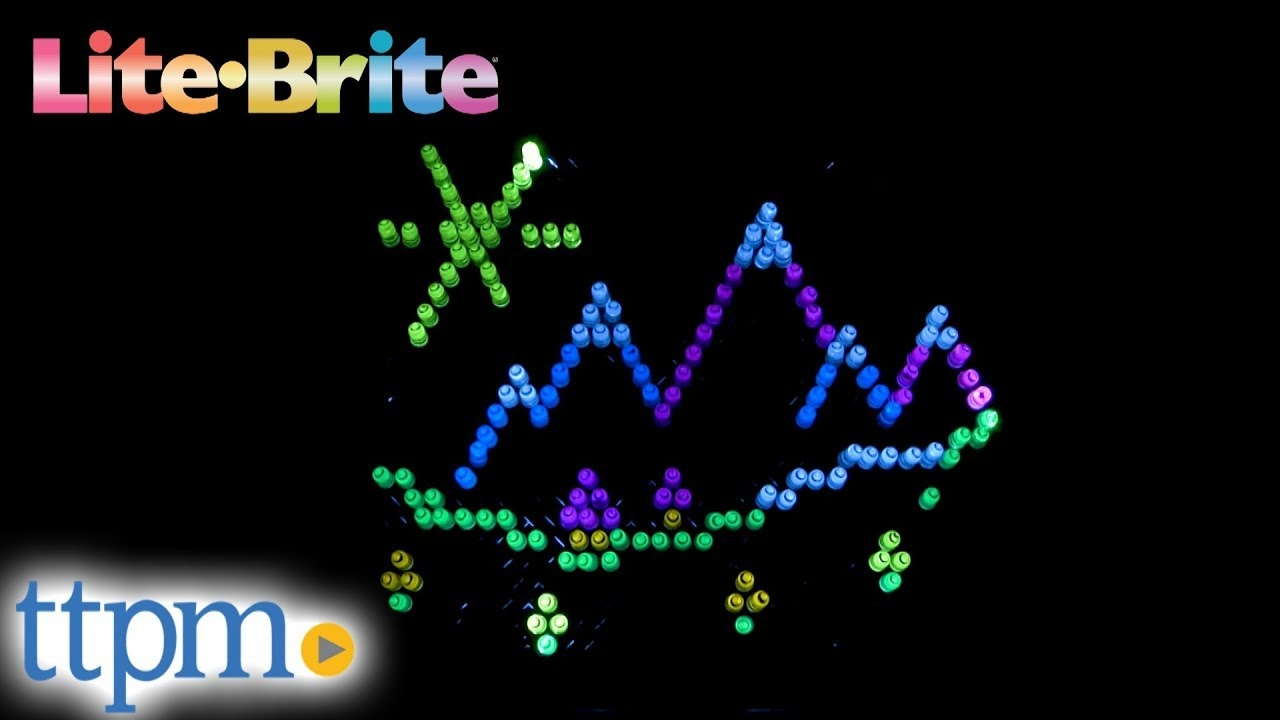 Lite-Brite Ultimate Classic From Basic Fun - Youtube - Lite Brite Templates Free Printables