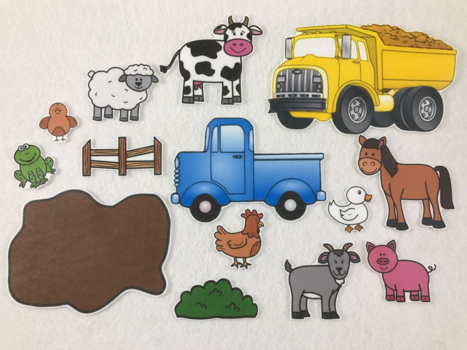 Little Blue Truck - Felt Board Story - Felt Stories - Speech Therapy - Little Blue Truck Free Printables