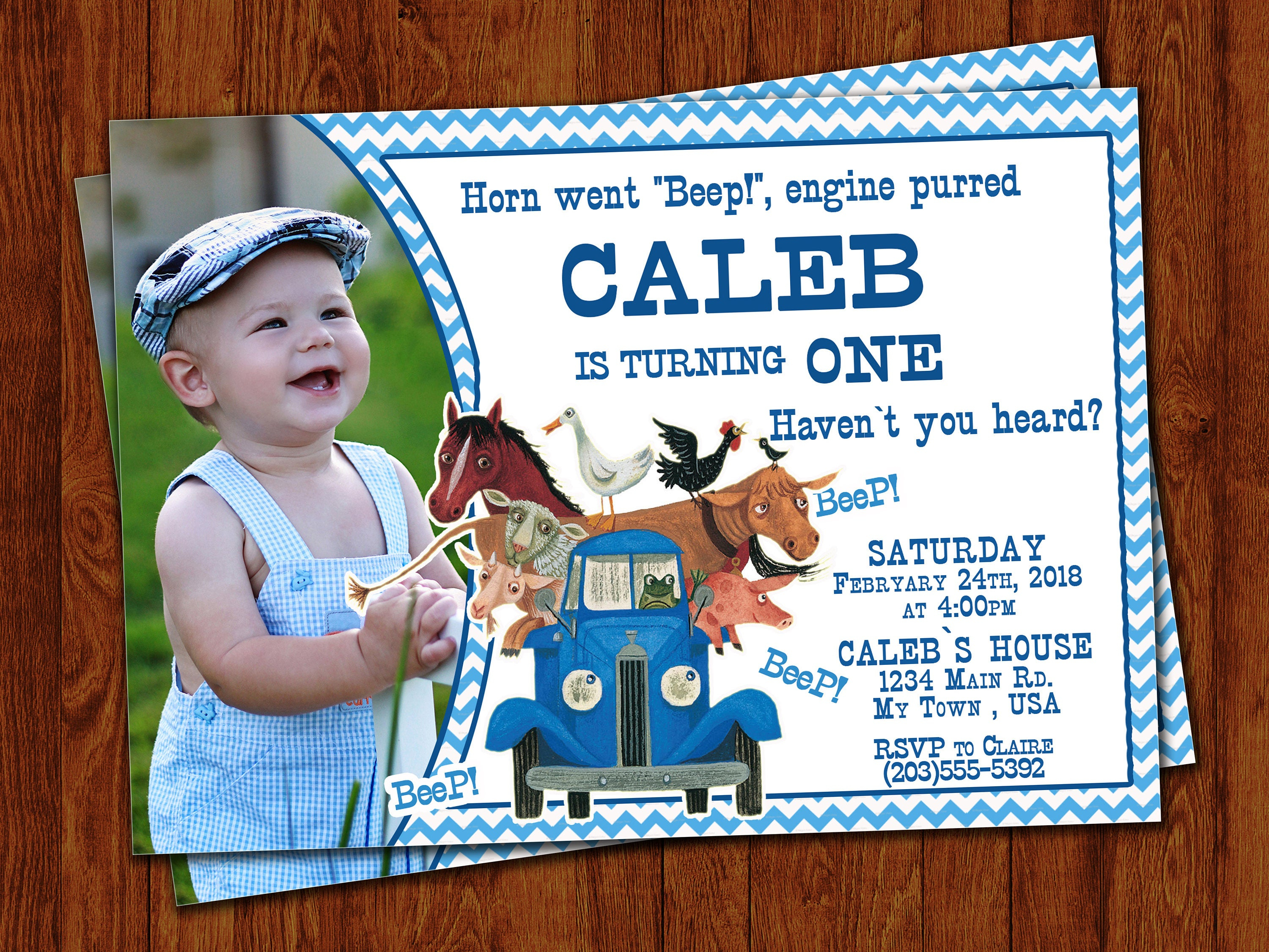 Little Blue Truck Invitation Little Blue Truck Birthday | Etsy - Little Blue Truck Free Printables