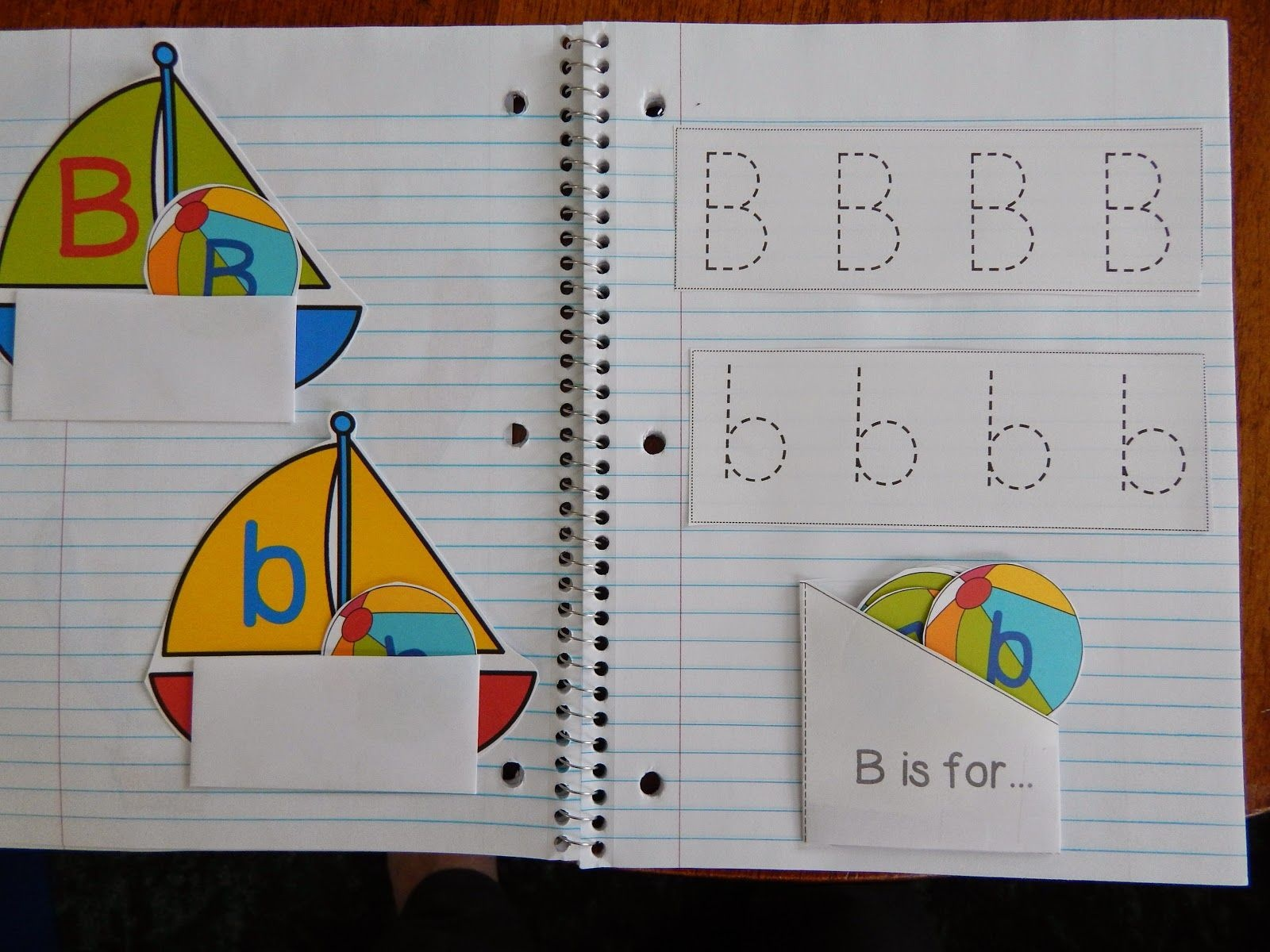 Living Worldsapart: Letter B Interactive Notebook Pages - Free - Free Interactive Notebook Printables