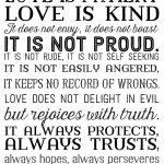 Love Is Patient Love Is Kind. Free Printable In 3 Color Options. 1   Love Is Patient Free Printable