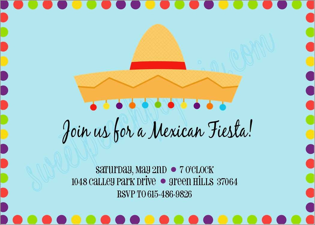 Lovely Mexican Fiesta Invitation Templates Free | Best Of Template - Free Printable Mexican Fiesta Invitation Templates
