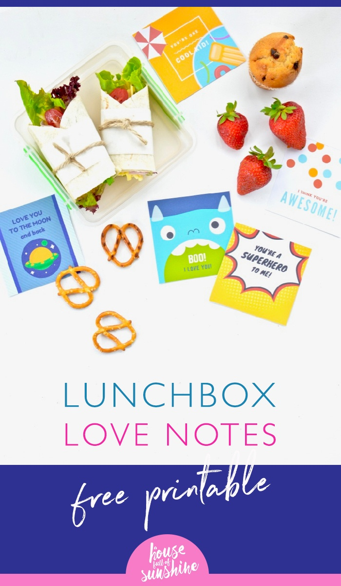 Lunchbox Love Notes {Free Printable!} | A House Full Of Sunshine - Take Note I Think You Are Awesome Free Printable