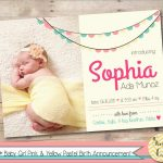 Luxury Birth Announcement Template Free Printable | Best Of Template   Free Printable Baby Birth Announcement Cards