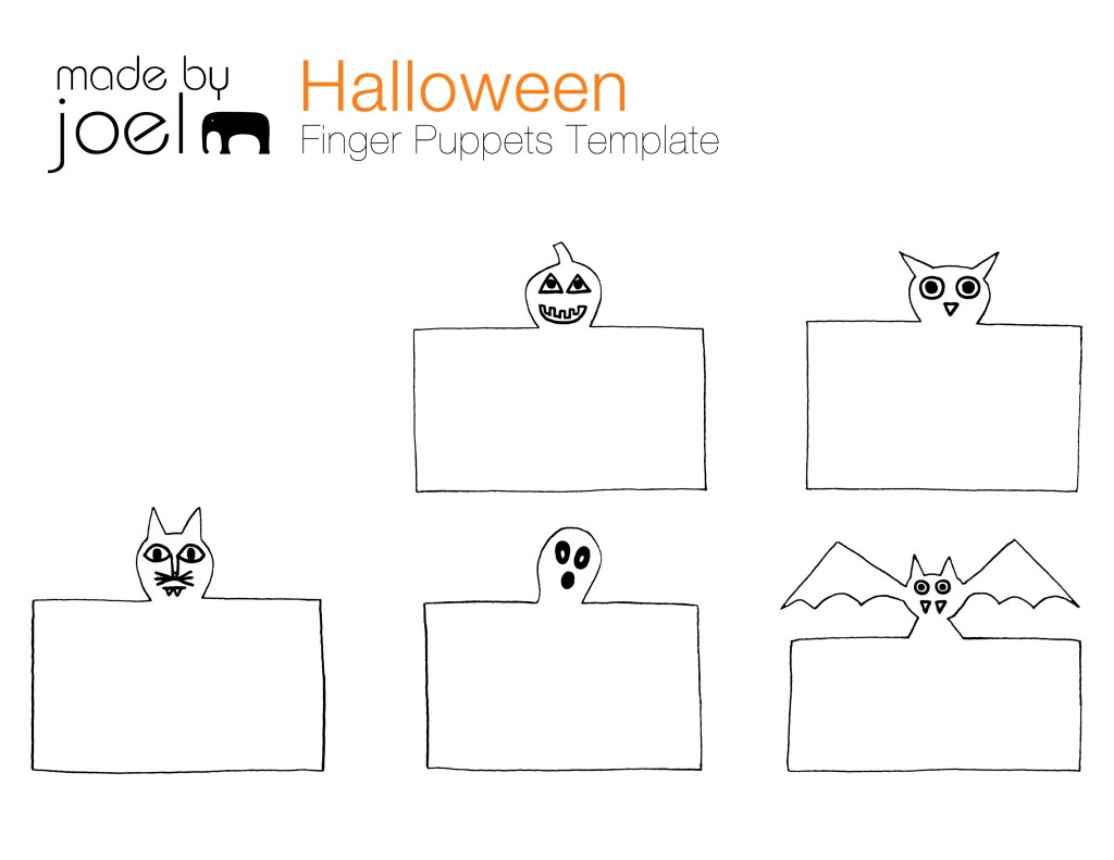 Madejoel » Diy Halloween Puppet Theater - Free Printable Finger Puppet Templates