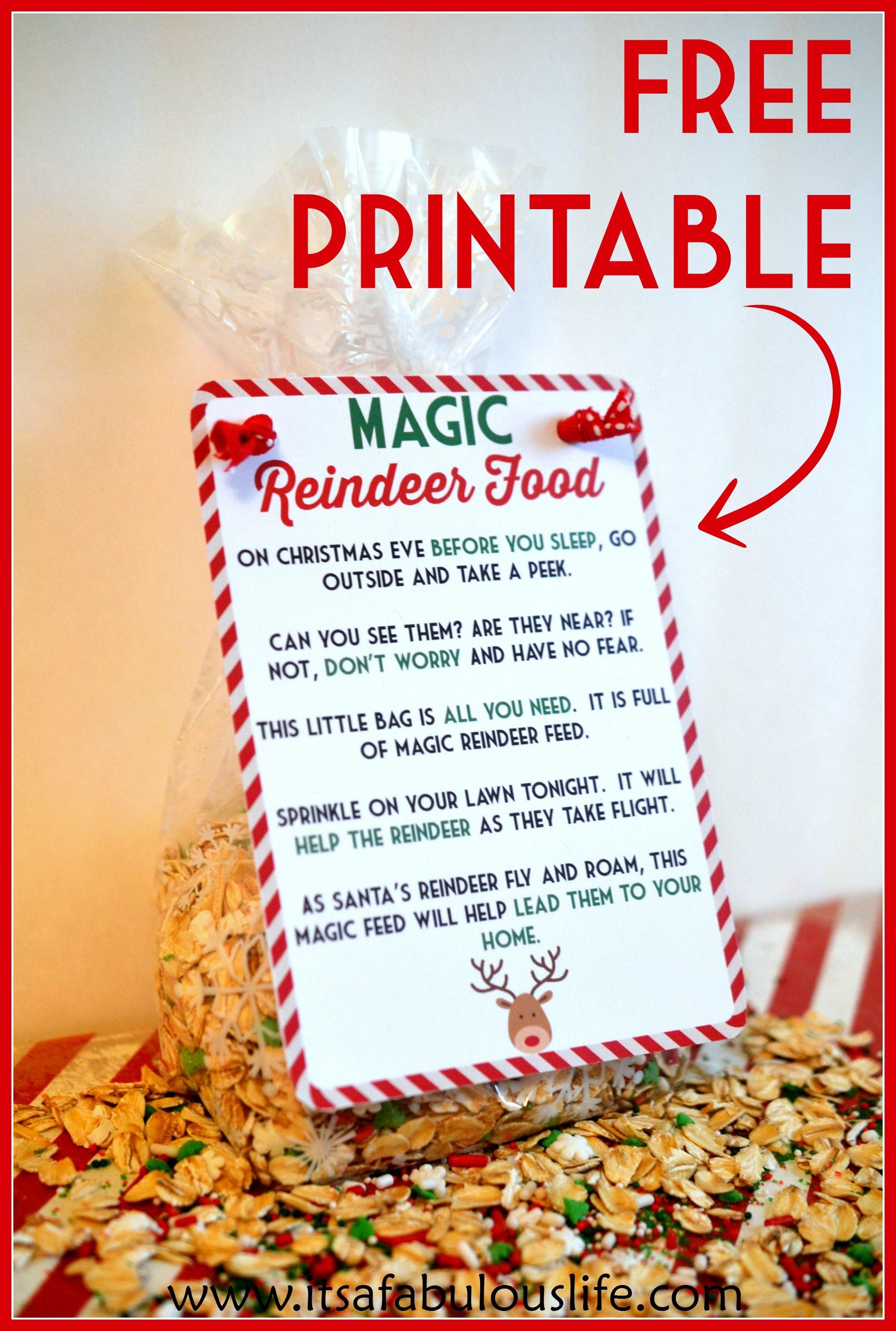 Magic Reindeer Food Poem & Free Printable | Little People, Big - Free Printable Reindeer Dust Poem