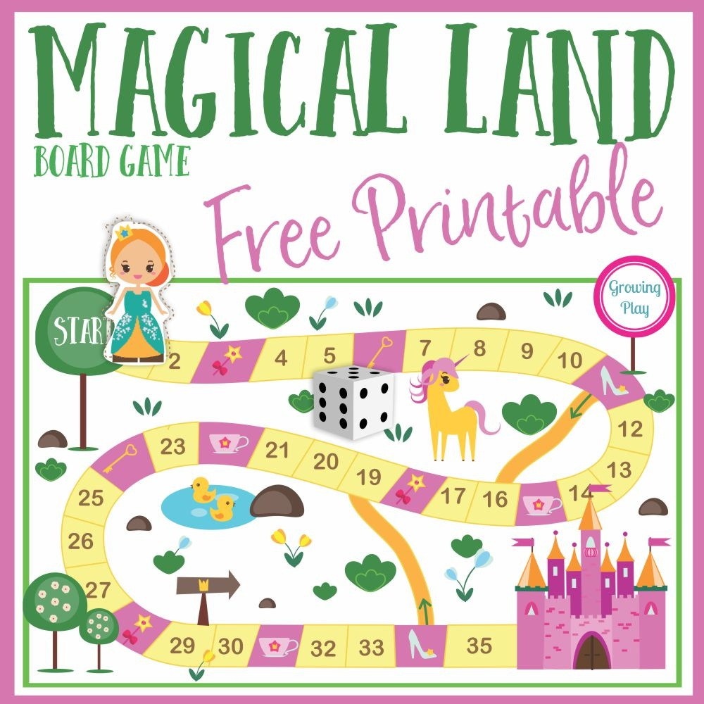 Magical Land Board Game Free Printable - Growing Play - Free Printable Board Games