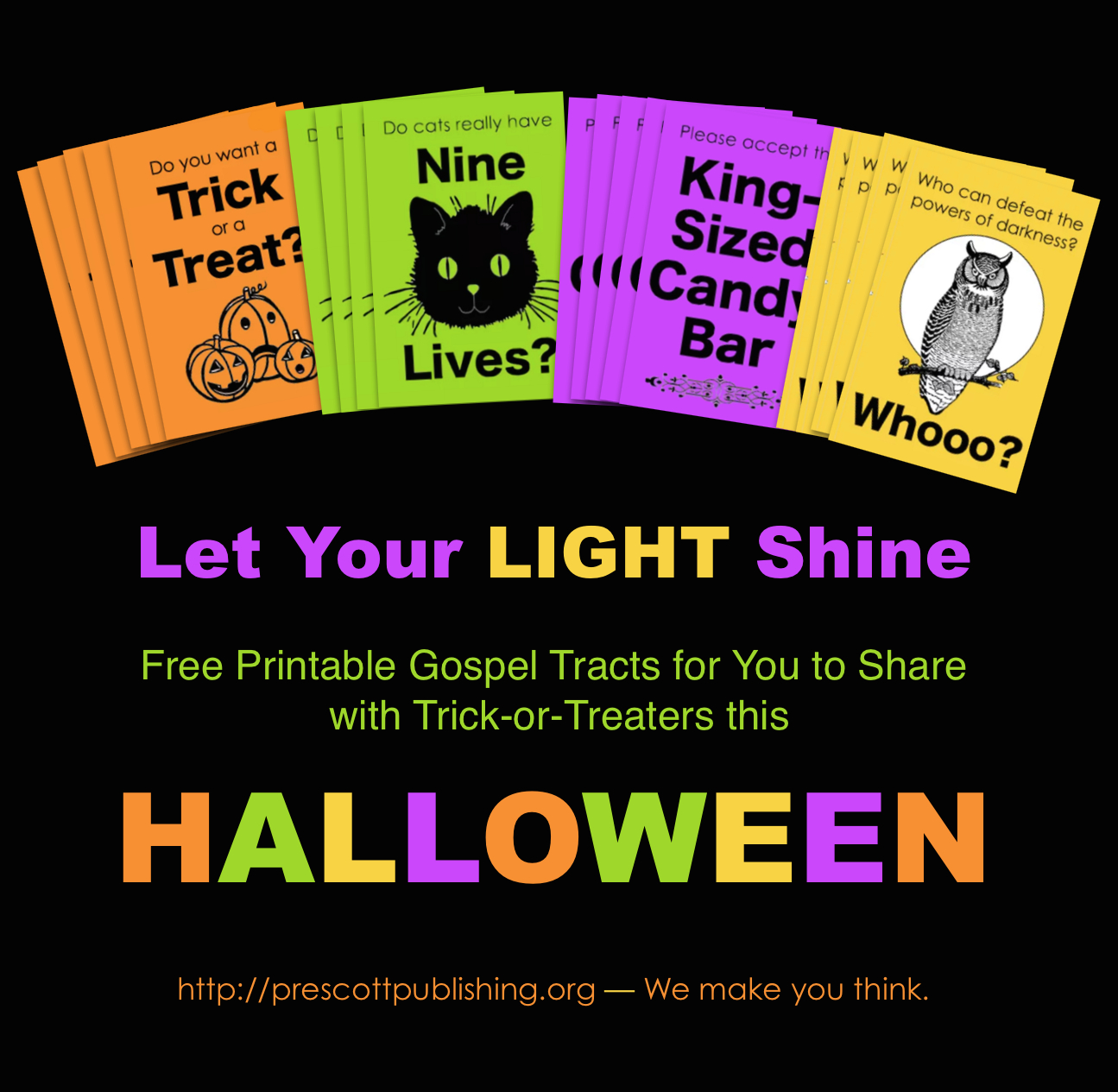 Mailbag: Free Printable Trick-Or-Treat Tracts - Flanders Family Homelife - Free Printable Gospel Tracts For Children