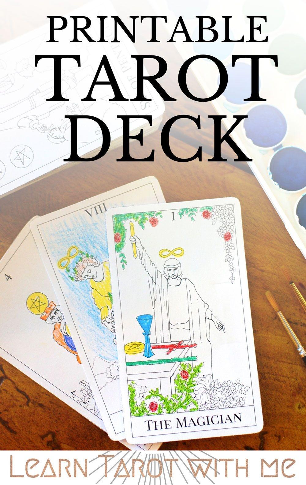 Major Arcana Tarot Deck - Digital Printable Tarot Card Deck From The - Free Printable Oracle Cards Pdf