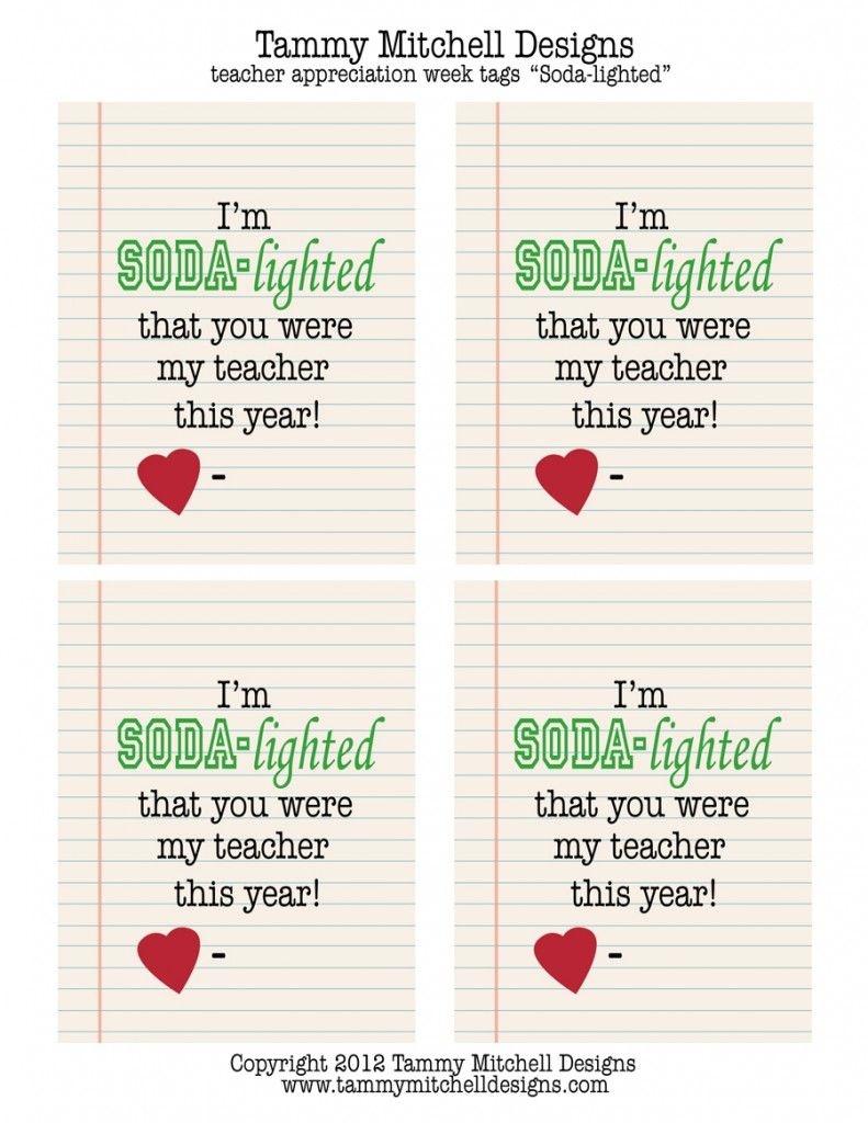 Make This: Free Printable Teacher Appreciation Week Creative Gift - Free Printable Teacher Appreciation Greeting Cards