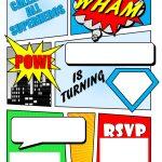 Make Your Own Comic Book Printable | Superhero Comic Book Party   Free Printable Superman Invitations