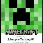 Make Your Own Custom Printable Minecraft Party Invitations   Free Minecraft Printables