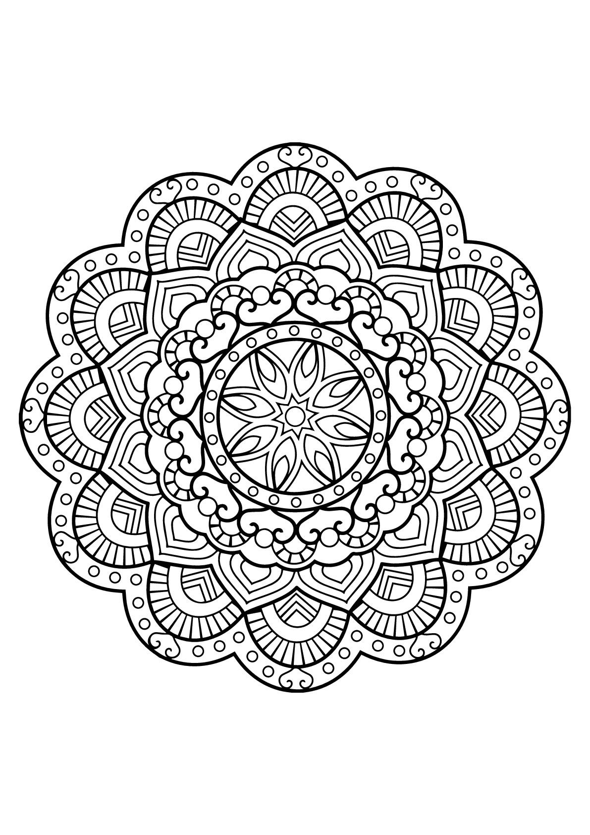 Mandala From Free Coloring Books For Adults 26 - M&alas Adult - Free Printable Mandalas
