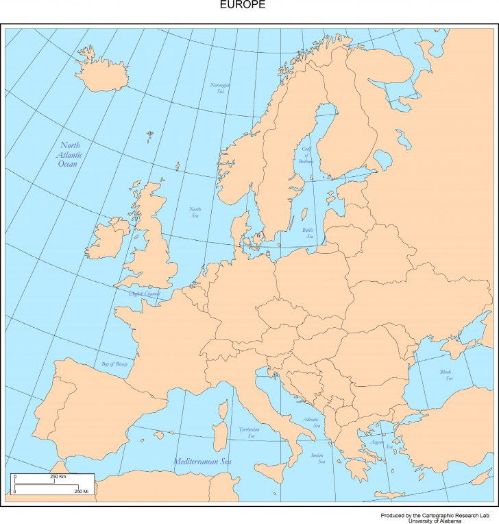 Free Printable Map Of Europe With Cities