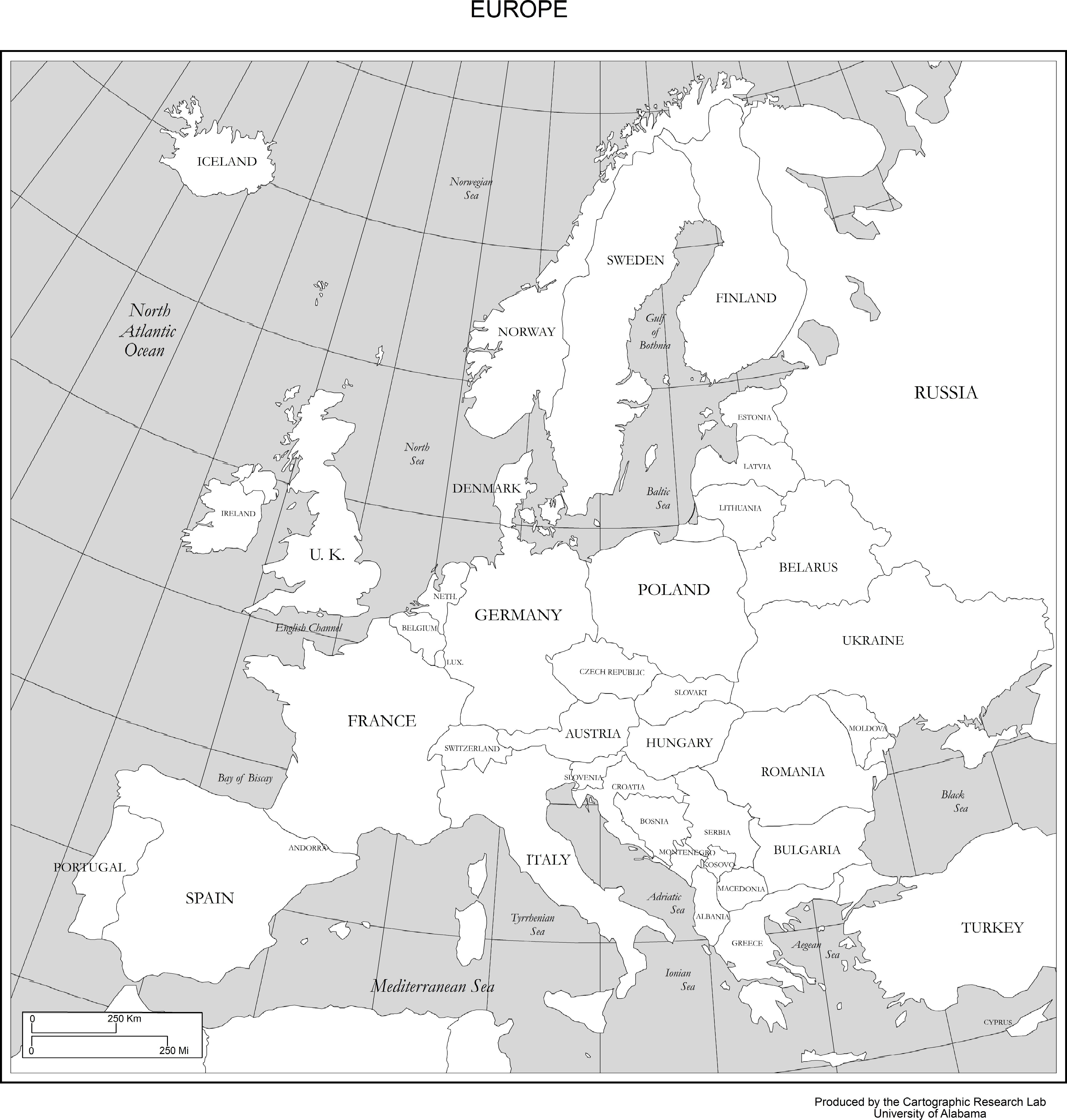 Maps Of Europe - Free Printable Map Of Europe With Cities