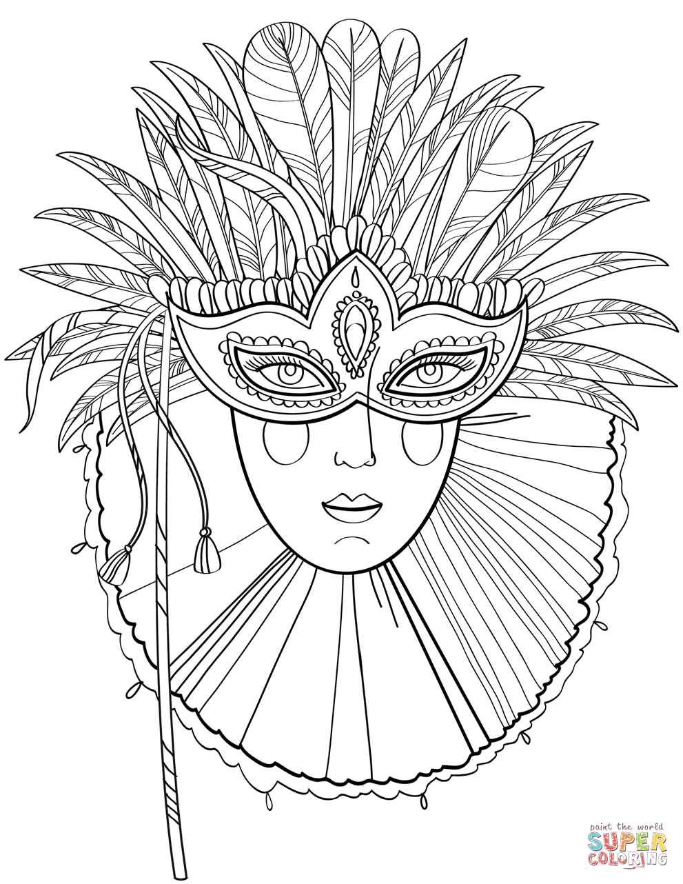 Mardi Gras Coloring Pages | Free Printable Pictures - Mardi Gras Coloring Pages Free Printable