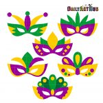 Mardi Gras Masks Clip Art Set – Daily Art Hub – Free Clip Art Everyday   Free Printable Mardi Gras Masks