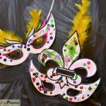Mardi Gras Masks Kids Activity (Free Printable With 2 Masks)     Free Printable Mardi Gras Masks