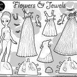 Marisole Monday Paper Doll Coloring Pages. Black And White And Color   Free Printable Paper Dolls Black And White