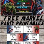 Marvel | Avengers | Birthday Party Printable Files | Invitations   Free Avengers Birthday Party Printables