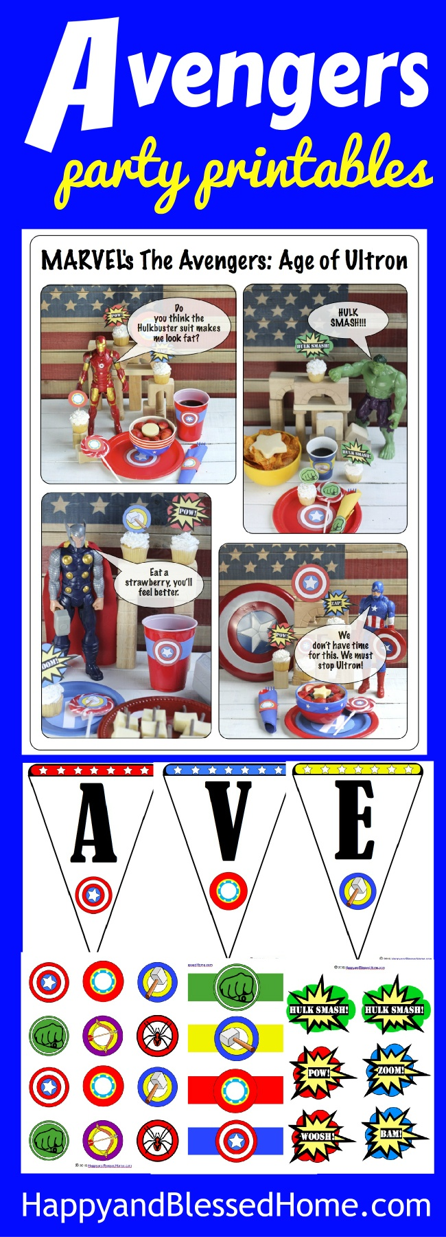 Marvel's The Avengers: Age Of Ultron Party - Happy And Blessed Home - Free Avengers Birthday Party Printables