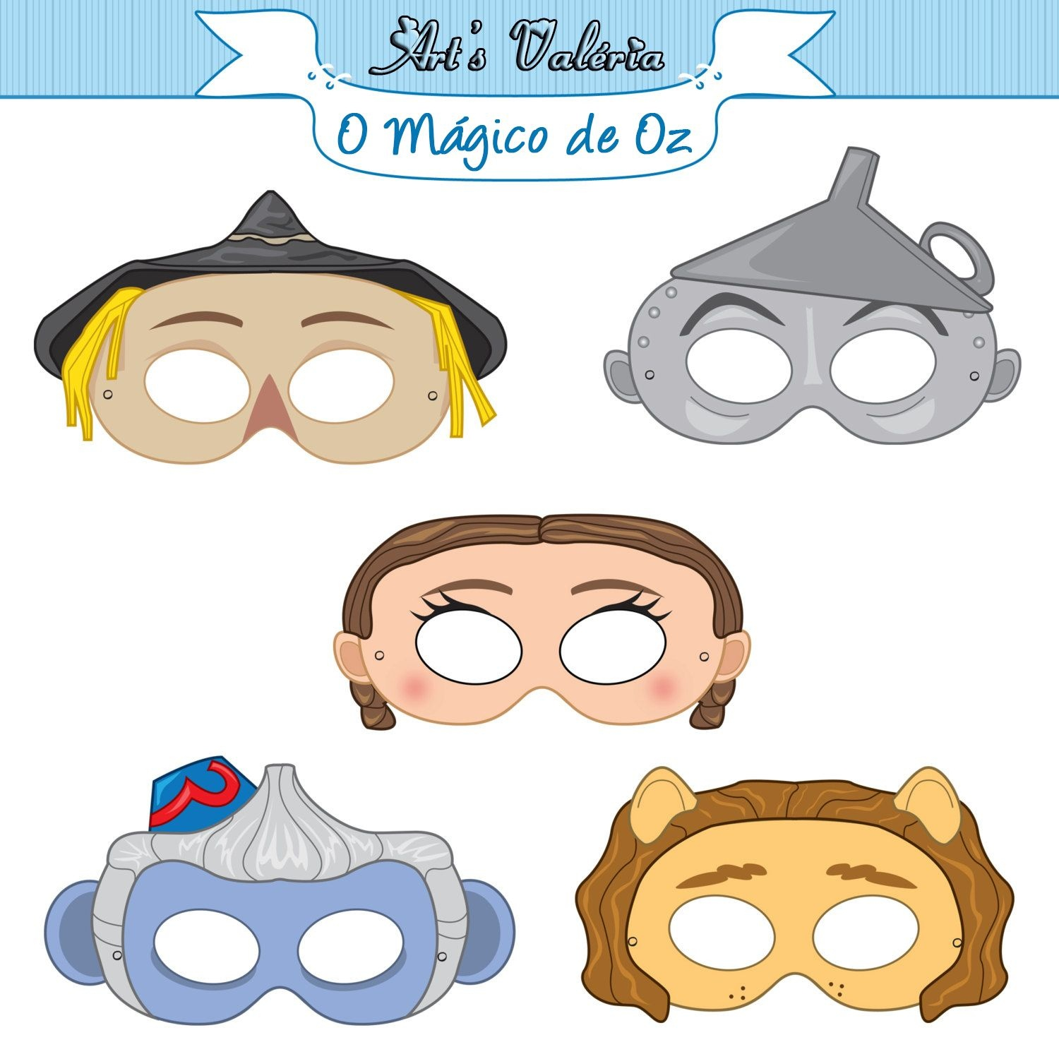Mascáras Mágoco De Oz - Pesquisa Google | 00Rainbow House | Wizard - Free Printable Wizard Of Oz Masks
